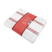 3pk Festive Linear Tea Towels (XMA204807)
