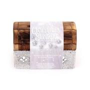 Wood Incense Box Silver 9.5cm (XMS1426)