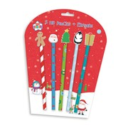 Pencils & Novelty Erasers 5s (XXPETP)