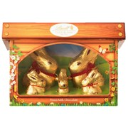 Lindt Lindor Gold Bunny Family Hutch 130g (Y269)
