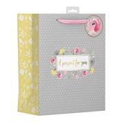 Polka Dot Floral Gift Bag Large (YAKGB52L)