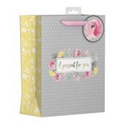 Polka Dot Floral Gift Bag Medium (YAKGB52M)