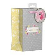 Polka Dot Floral Gift Bag P/fume (YAKGB52P)