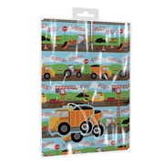 Giftmaker Diggers 2 Sheets & Tags Gift Wrap (YAKGS20B)