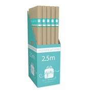 Giftmaker Kraft Roll Wrap 2.5mt (YAKGW20L)