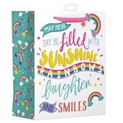 Rainbow Text Gift Bag Large (YALGB11L)