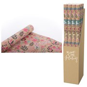 Eco Rainforest Floral Roll Wrap 3mt (YECO124A)