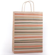 Eco Stripes Gift Bag Large (YECOB106)