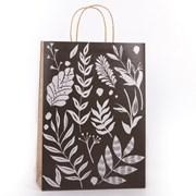 Eco Monochrome Leaf Gift Bag Large (YECOB108)