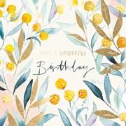 Yellow Buddleia B/day Card (II1154W)