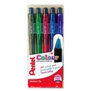Pentel Colour Retract Pen Wallet (YK437CR/5-M)