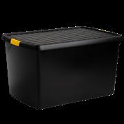Wham Clip Diy Recycled Box & Lid Black 62ltr (Z19524)