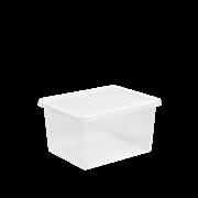 Wham Crystal Box & Lid Clear 37ltr (Z25425)