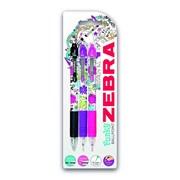 Zebra Z-grip Floral Triple (02500)