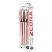 Zebra Z-grip Rose Gold 3pack (02582)