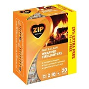 Zip Firelighters Wrapped+25%ex Free 20s (SB091446)