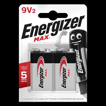 Energizer Max 9v Batteries 2s (ENER6LR61B2MAX)