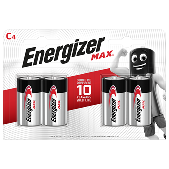 Energizer Max C Batteries 4s (ENERLR14B4MAX)