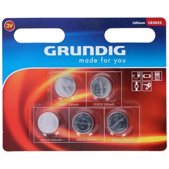 Grundig Button Cell Cr2032 5pcs (53895)