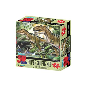 Super 3d Double Trouble Dinosaur Puzzle 63pce (HR13518)
