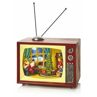 Premier Xmas Led Tv Scene With Rotating Tree 24cm (LB184507)