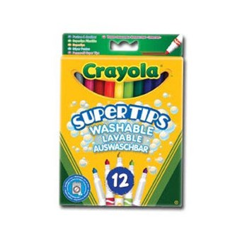 Crayola 12 Bright Supertips Markers (03.7509)