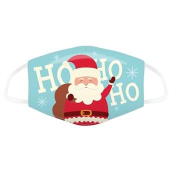 Ho Ho Ho Christmas Santa Reusable Face Covering Large (XMASK72L)