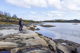 På tur innover mot Åslielva - Foto: Kjell Fredriksen