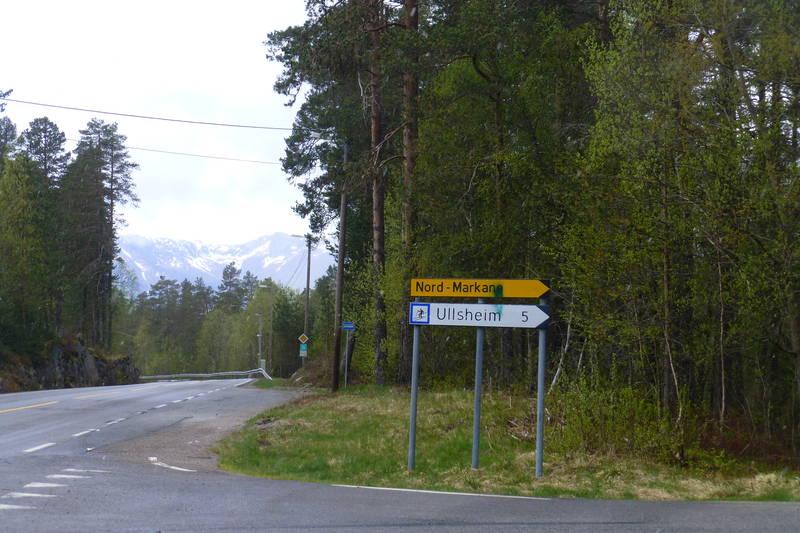 Utgangspunkt for turen ved Skogstjerna i Markane