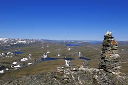 Utsikt fra toppen av Hårteigen, 1690 moh. - Foto: Svein Ulvund