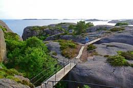 Turstien over Kapelløya. - Foto: Arnfinn Håverstad