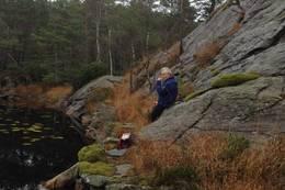 Ved enden av Kallakodtvatnet -  Foto: Torfinn Dommersnes