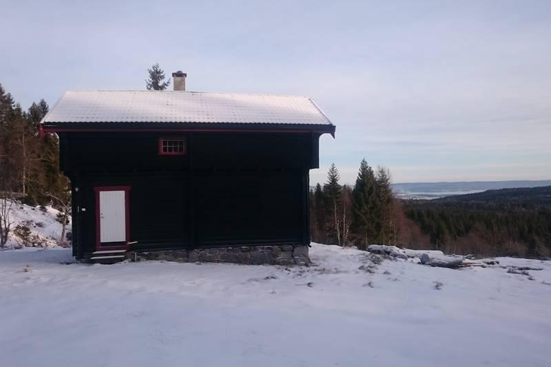 Nydelig utsikt fra hytta