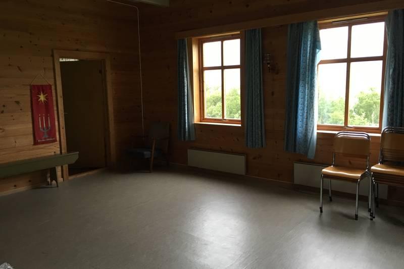 Klasserommet med god plass