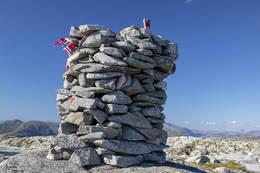 Varden på toppen -  Foto: Gunnar E Nilsen