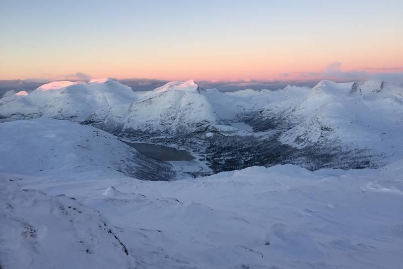 Utsikt fra toppen nordover