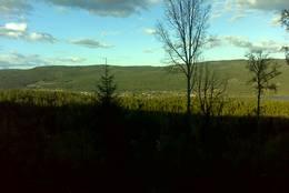 Utsikt fra Sørli mot Harestua -  Foto: Gunnar Næss