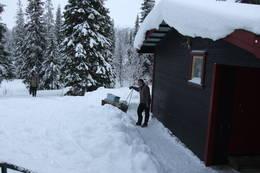 Snømåking ved Bellingstua - Foto: