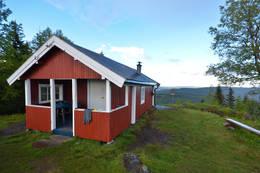 Utsikt i flere retninger fra hytta -  Foto: Hallgrim Rogn