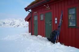 Pause på hytta. - Foto: Torodd Solvang