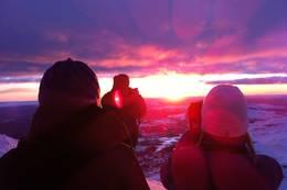 Utsikt mot Hardangervidda fra Gaustatoppen Turisthytte - Foto: Jon Atle Holmberg