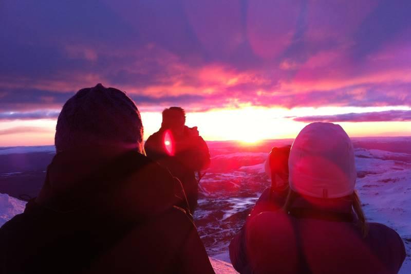 Utsikt mot Hardangervidda fra Gaustatoppen Turisthytte