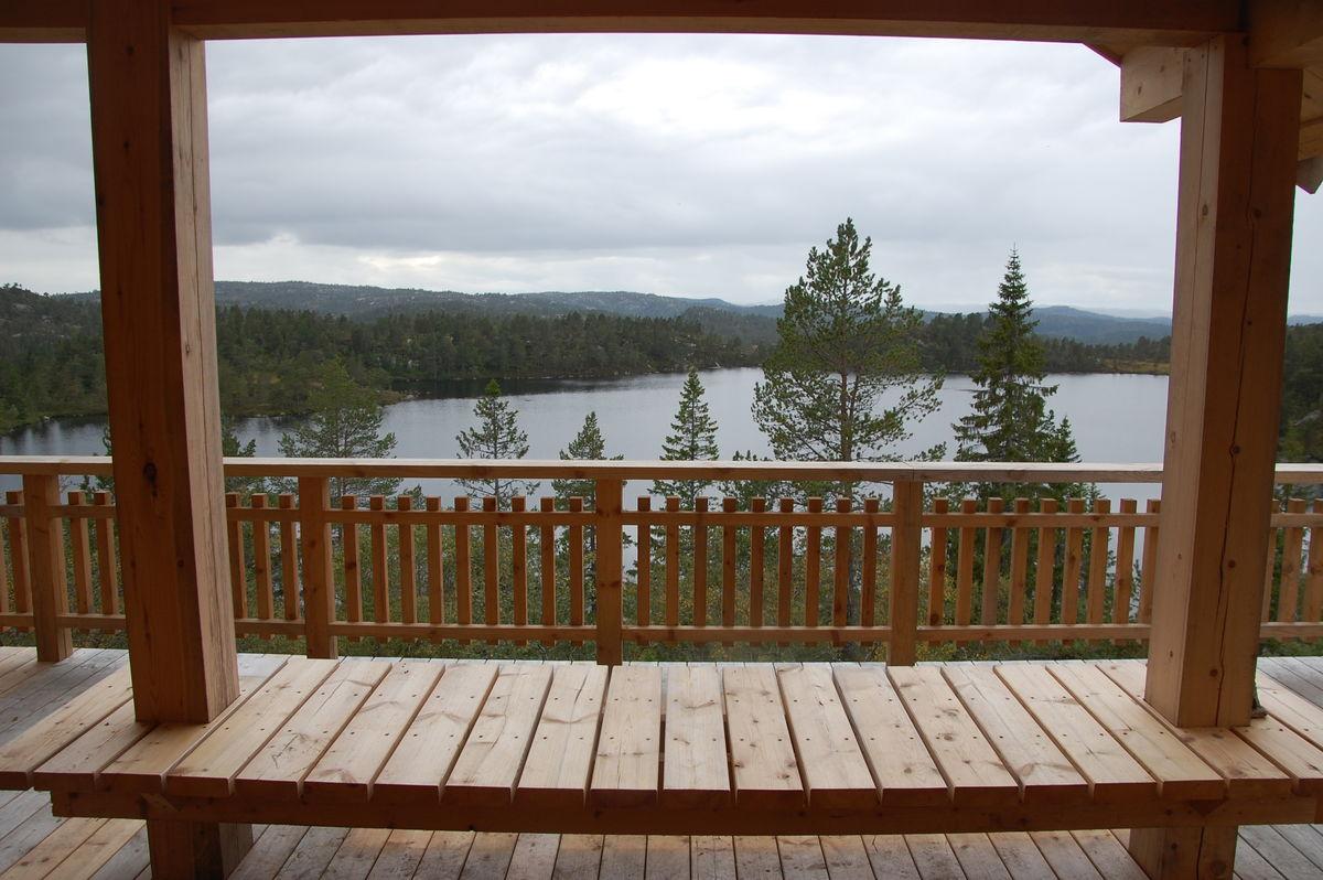 Utsikt fra verandaen på sikringsbua