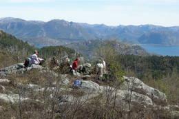 Bergsfjell og Frafjordhatten i bakgrunnen - Foto: Njål Vadla