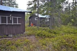 Matpause ved Juskjølkoia - Foto: Hallgrim Rogn