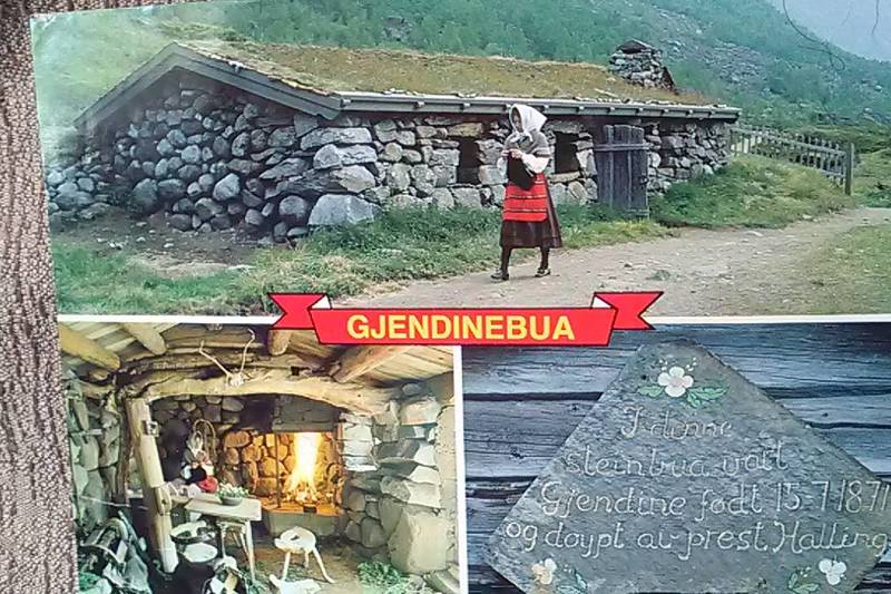 GJENDINEBUA: Den norske bondekvinnen- og folkesangeren Gjendine ble født i steinbua Gjendebu i Jotunheimen.
