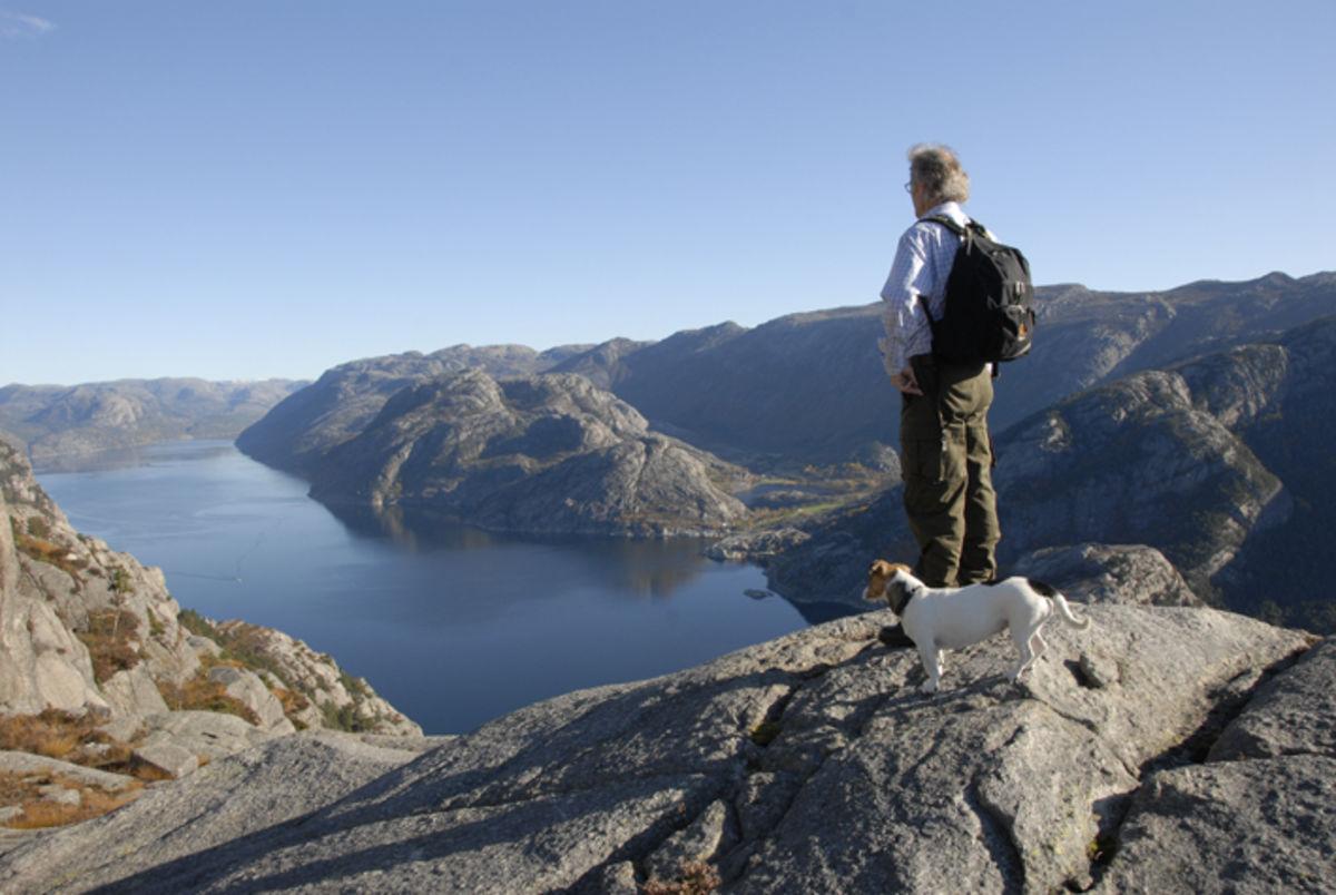 Utsikt fra Hatten mot Lysefjorden