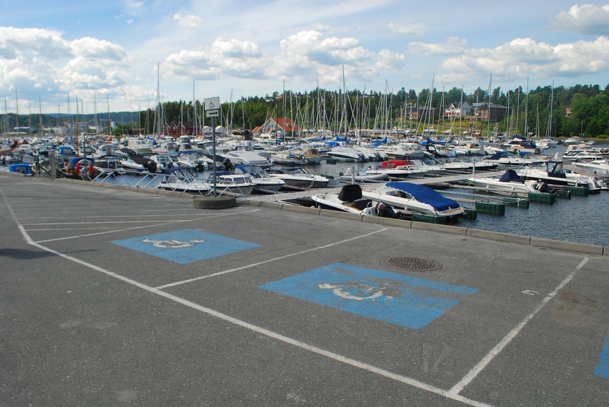 HC-parkering i Solvikbukta.