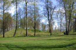 Gravhaug i Borre Nasjonalpark -  Foto: Ukjent