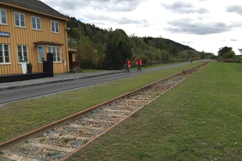 Jernbanespor har blitt sykkelvei på Morskogen